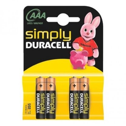 Picture of PILHA DURACELL AAA MN2400 LR03 SIM PACK4