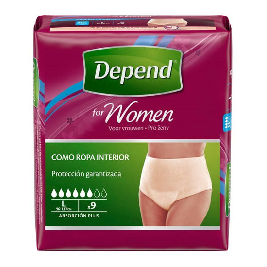 Picture of Cueca Depend Normal Mulher L 9 unidades